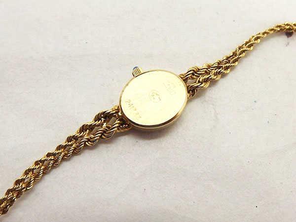 1円 ジャンク品 ジャガー 241333 クオーツ 750YG レディース腕時計 EV097_画像3