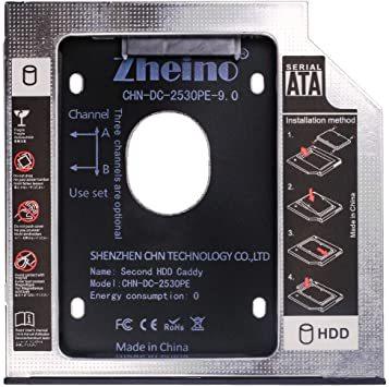 CHN-DC-2530PE-9.0 Zheino 2nd 9.0mmノートPCドライブマウンタ セカンド 光学ドライブベイ用 S_画像1
