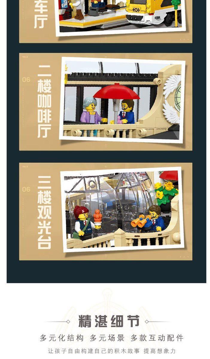 LEGO互換 ヨーロッパの大きな駅_画像7