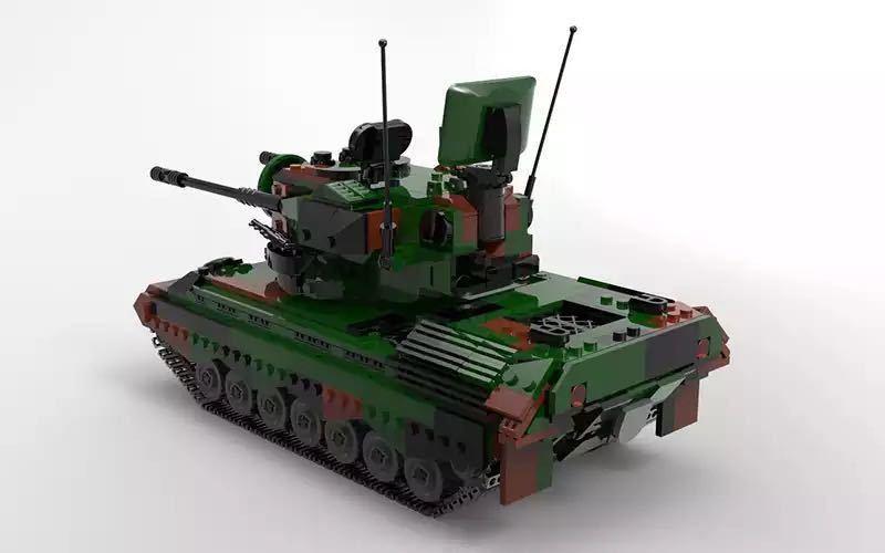 LEGO互換 ゲパルト自走対空砲_画像2