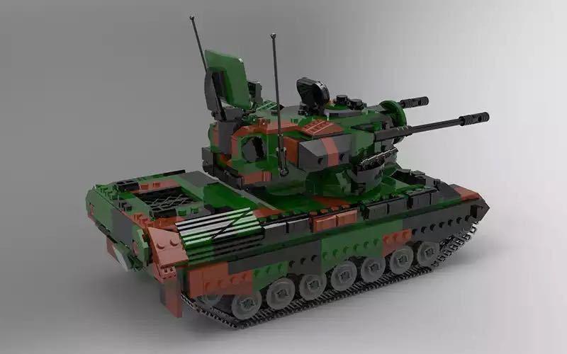 LEGO互換 ゲパルト自走対空砲_画像3