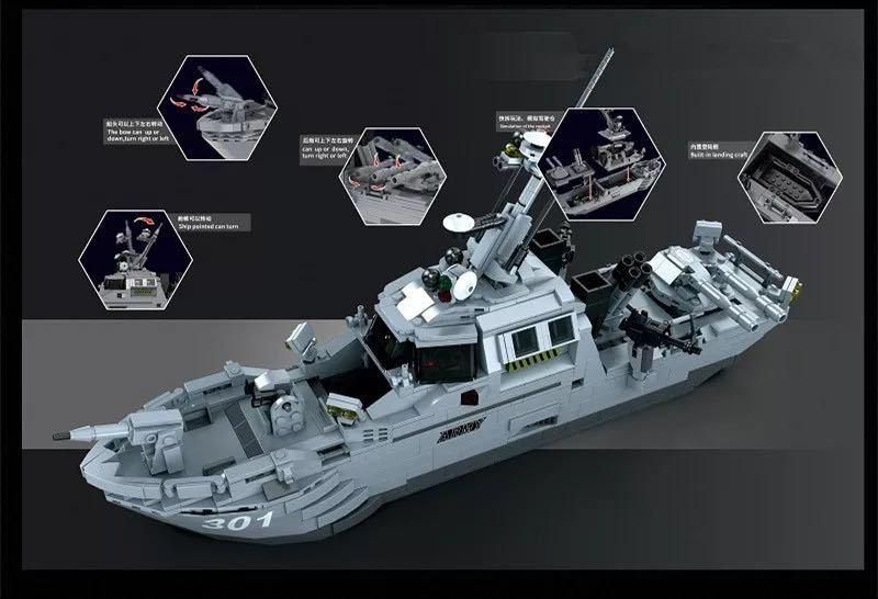 LEGO互換 パトロールボート_画像2