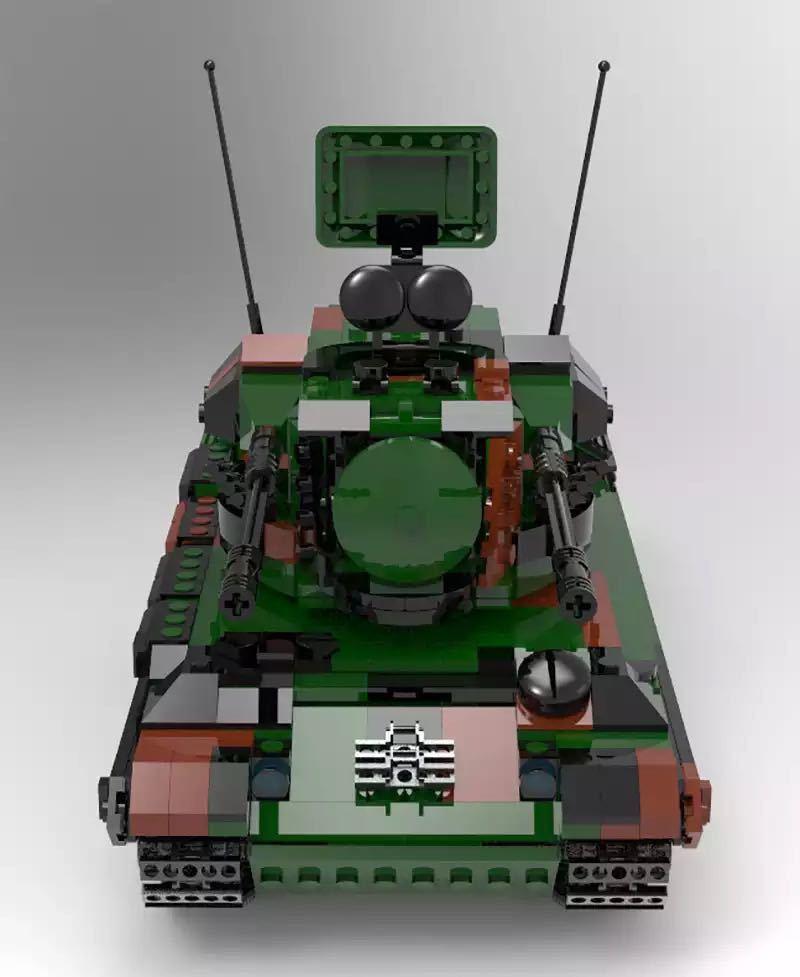 LEGO互換 ゲパルト自走対空砲_画像4