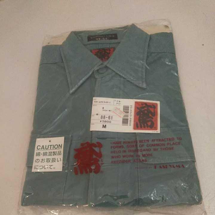 【送料無料なので激安】カセヤマ 鳶 手甲シャツ 88-61 シリーズ 綿 Mサイズ 長袖 定価7600円_画像1