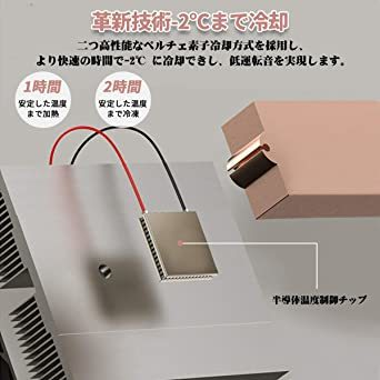 ピンク 10L Rockpals 小型冷温庫 氷点下-2℃~60℃ 10L 保冷庫 ミニ冷蔵庫 温度調節可能 保温・保冷両用 温_画像8