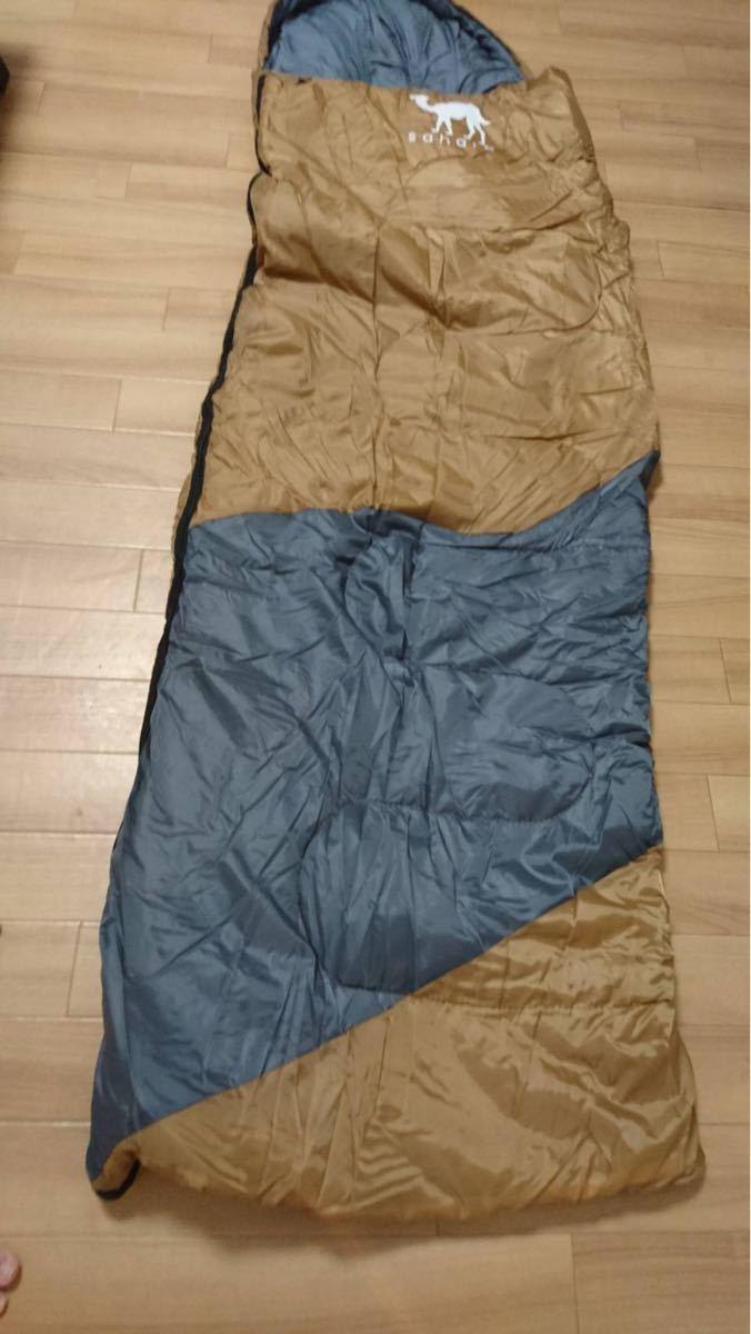 秋冬用 2点セット 新品 寝袋 -15℃ 封筒型 コンパクト 丸洗い 抗菌仕様 キャンプ アウトドア 車中泊 防災 ソロキャンプ