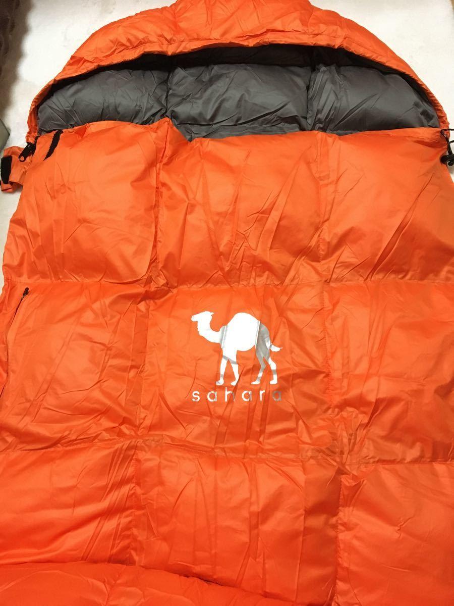 新品 寝袋 ダウン ダークグリーン シュラフ 封筒型 最低使用温度 -5℃ グリーン 緑 防災 アウトドア キャンプ ふわふわ