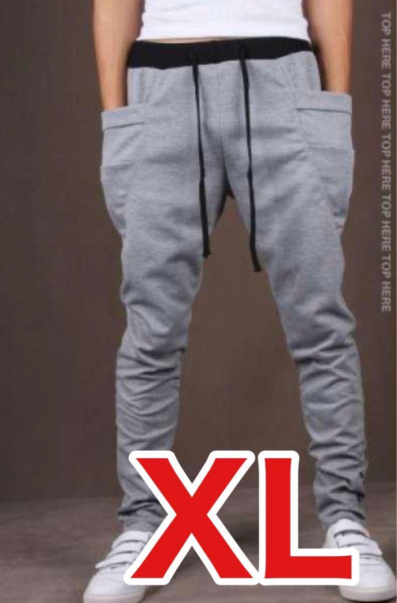XL スウェット 韓国 メンズ グレー カジュアル パンツ ジョガーパンツ