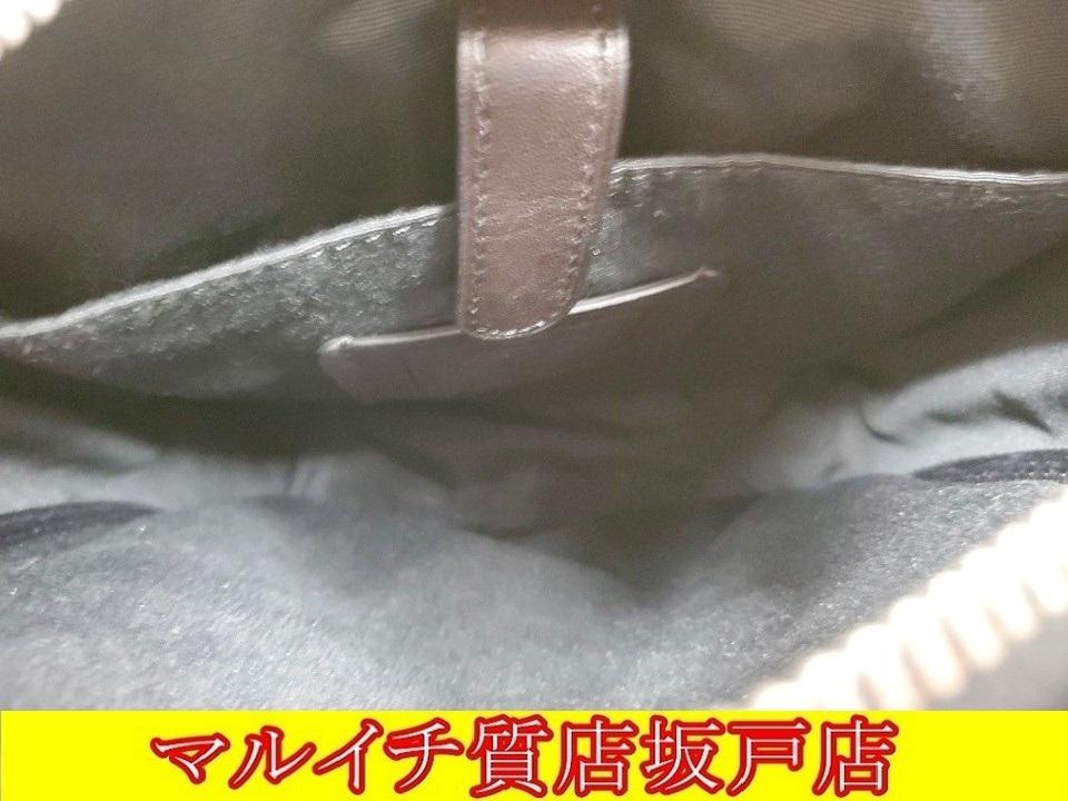 COACH コーチ PVC・レザー シグネチャー ショルダーバッグ ブラウン・ブラック F54788_画像7