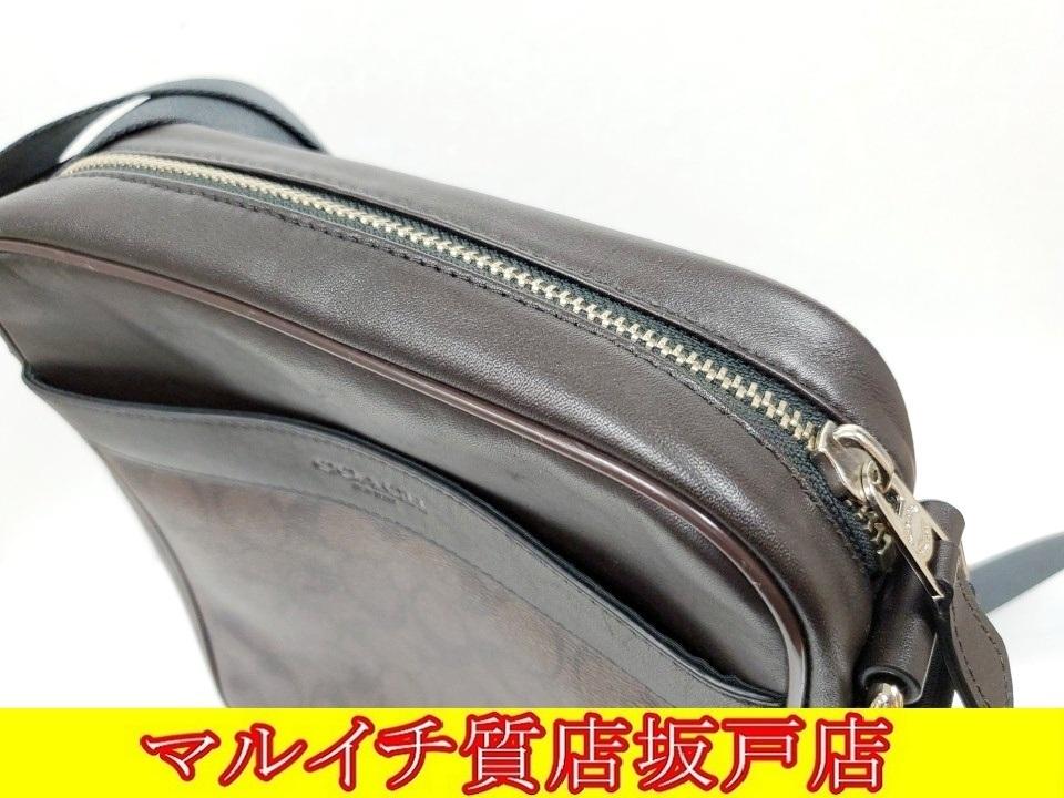 COACH コーチ PVC・レザー シグネチャー ショルダーバッグ ブラウン・ブラック F54788_画像5