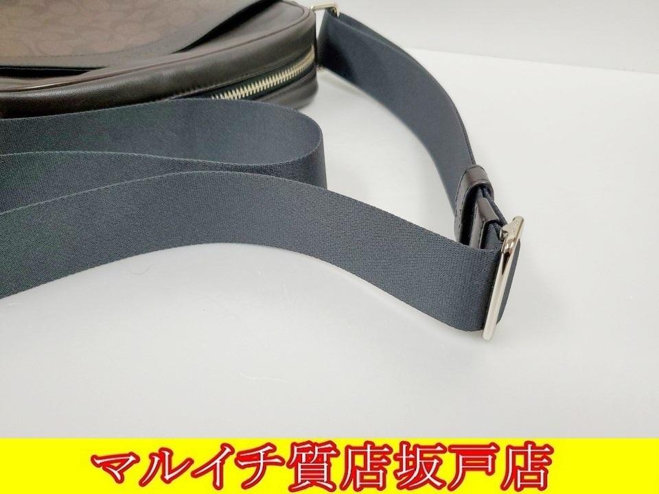 COACH コーチ PVC・レザー シグネチャー ショルダーバッグ ブラウン・ブラック F54788_画像6