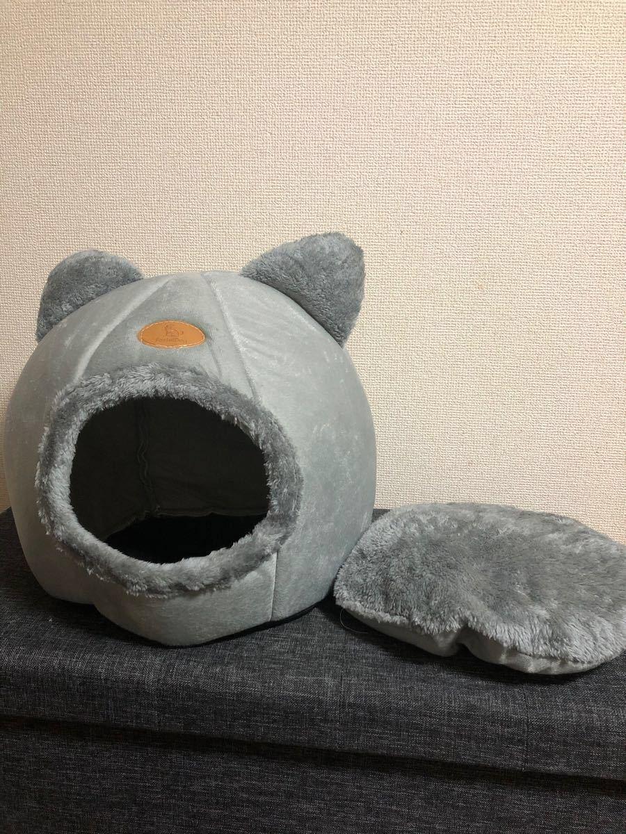 新品未使用 猫 ハウス ドーム型 犬 ペット ベッド冬用 キャット 小型犬