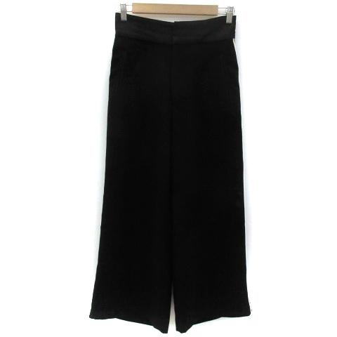 スライ SLY パンツ ワイド アンクル丈 ライン 2 ブラック 黒 /YM8 レディース_画像1