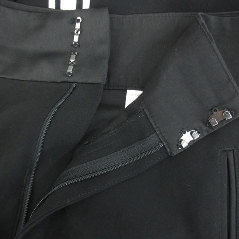 スライ SLY パンツ ワイド アンクル丈 ライン 2 ブラック 黒 /YM8 レディース_画像4