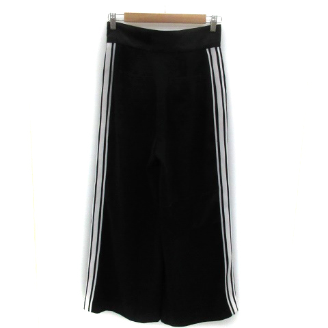 スライ SLY パンツ ワイド アンクル丈 ライン 2 ブラック 黒 /YM8 レディース_画像2