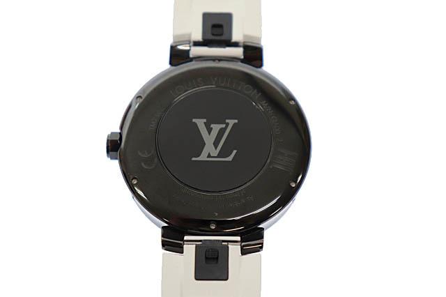 ルイヴィトン LOUIS VUITTON タンブール ホライゾン スマートウォッチ デジタル 腕時計 ラバー モノグラム ベルト QA002Z 黒 白 ▲■_画像3