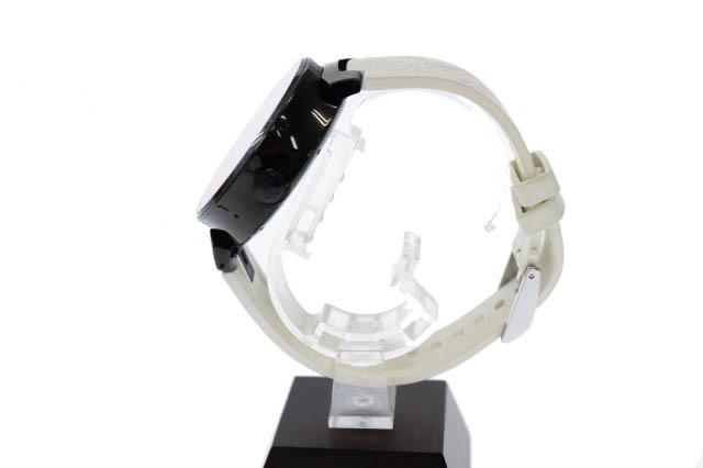 ルイヴィトン LOUIS VUITTON タンブール ホライゾン スマートウォッチ デジタル 腕時計 ラバー モノグラム ベルト QA002Z 黒 白 ▲■_画像2