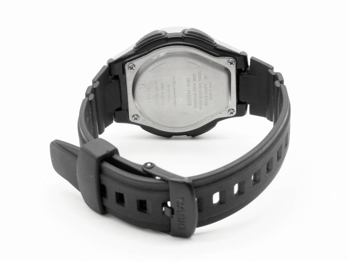■CASIO 多機能 メンズ 腕時計 AQ-180W 3針 アラーム クロノ タイマー 《G-239》_画像2