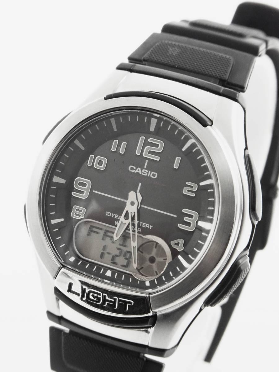 ■CASIO 多機能 メンズ 腕時計 AQ-180W 3針 アラーム クロノ タイマー 《G-239》_画像1