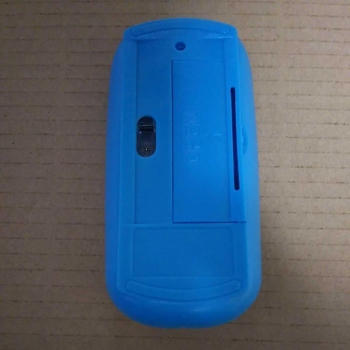 ◆ワイヤレスマウスサイレント 超薄型のUSB 2.4Gコンパクト省エネ ブルー2