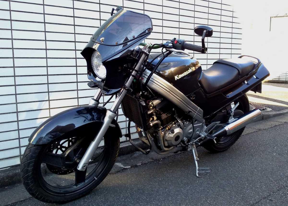 「KAWASAKI ZZR250 ネイキッド アップハンドルカスタム仕様 エンジン好調☆ カスタム・ベース・仕上げに!」の画像1