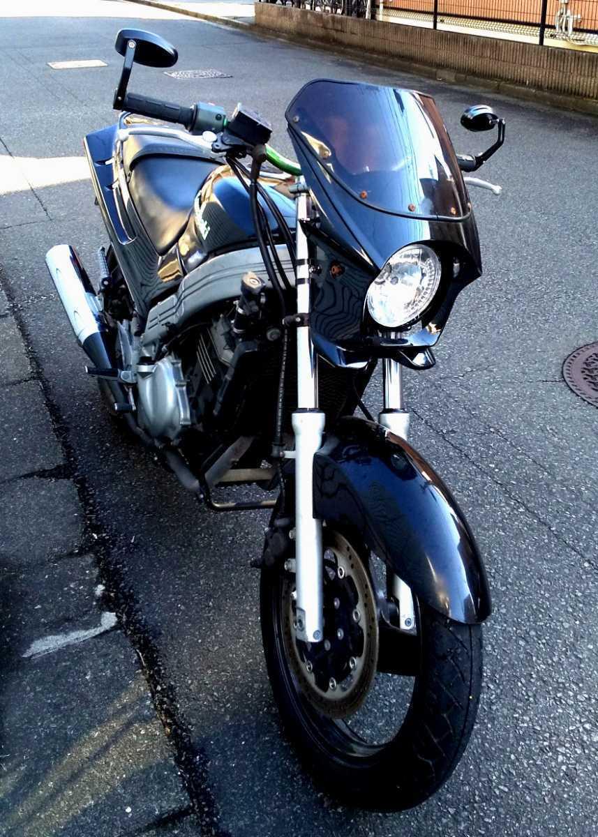 「KAWASAKI ZZR250 ネイキッド アップハンドルカスタム仕様 エンジン好調☆ カスタム・ベース・仕上げに!」の画像3