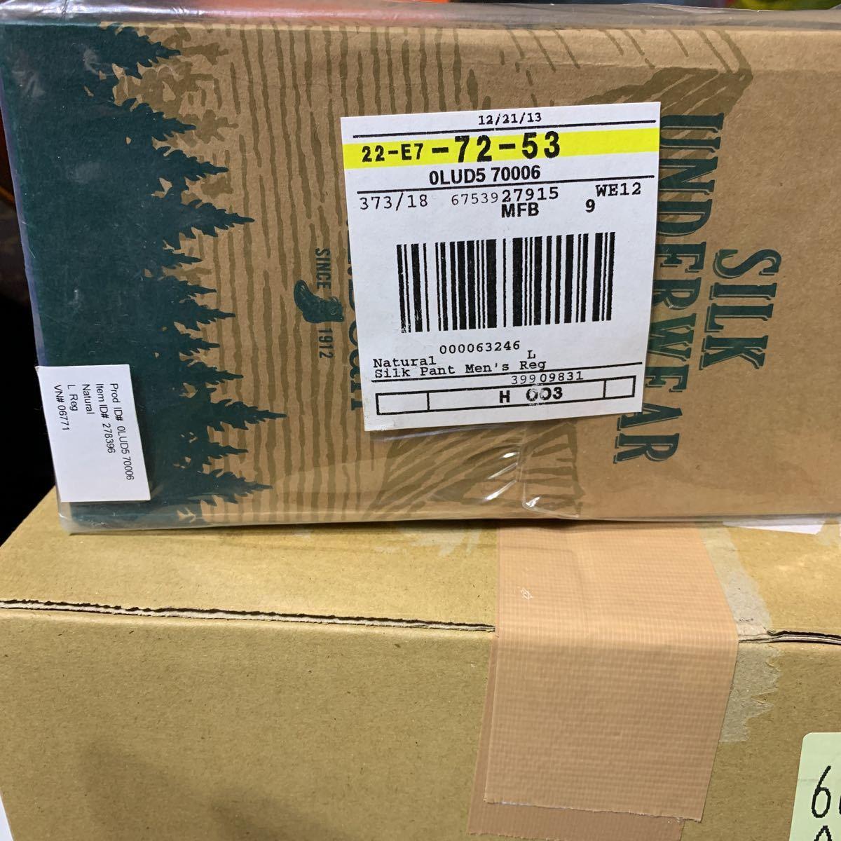 送料無料 新品未使用 L.L.Bean エルエルビーンズ シルク アンダーウエア パンツ Lサイズ ライトウェイト ソリッド シルク100%