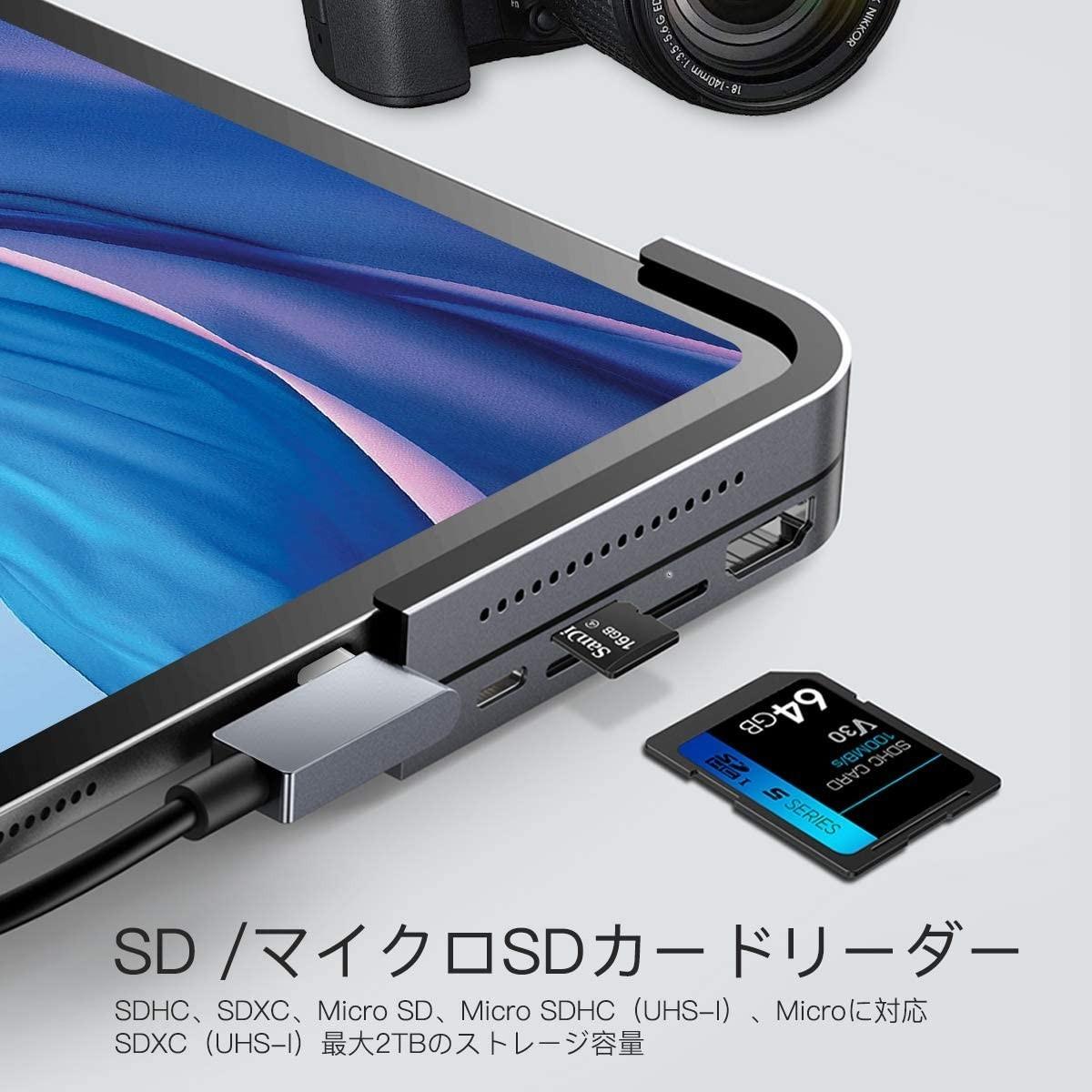 USB Cハブ ドッキングステーション USB-C PD充電