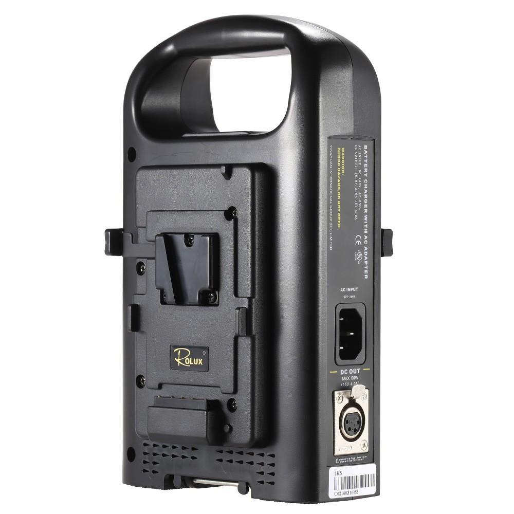 SONY Vマウントカムコーダーバッテリー対応 2チャンネル デュアル充電器 ROLUX RL-2KS_画像4