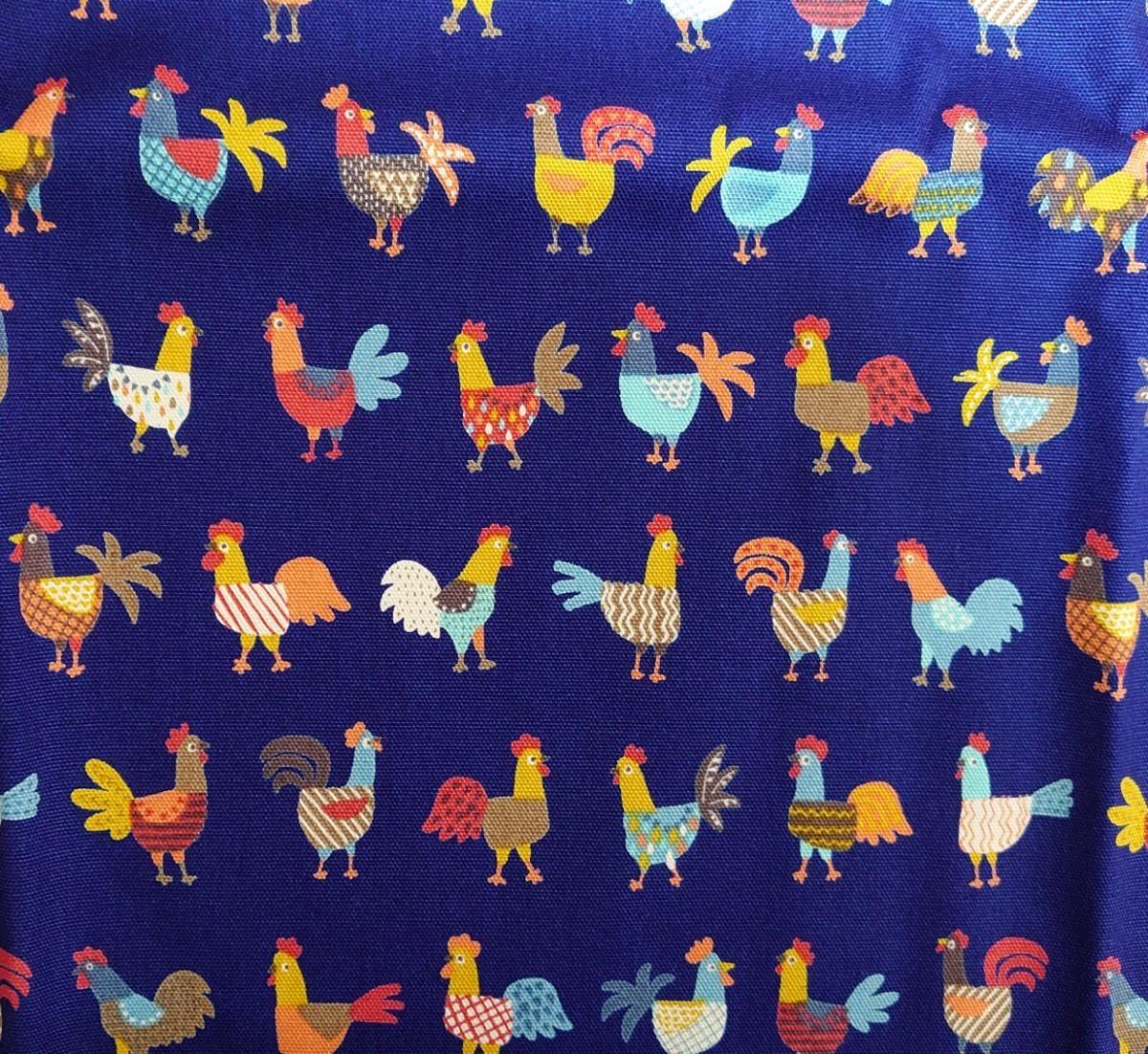オックス生地 日本製 にわとり 110×50cm rooster