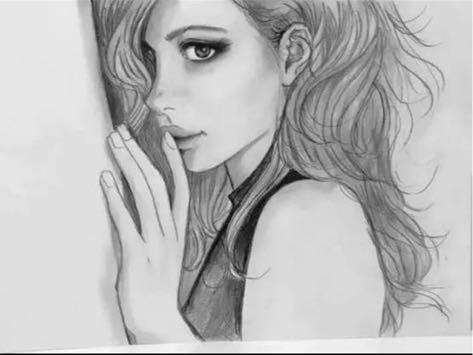 アート 人物画 _画像1