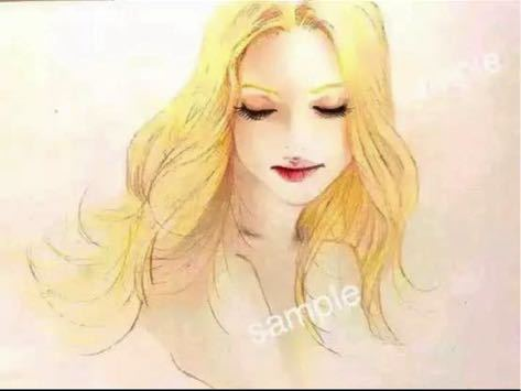 アート 人物画 Ave Maria 聖母マリア天使_画像1