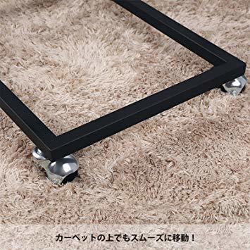 ヴィンテージ サイドテーブル VASAGLE サイドテーブル ソファ ナイトテーブル 広い天板 キャスター付き 幅50_画像6