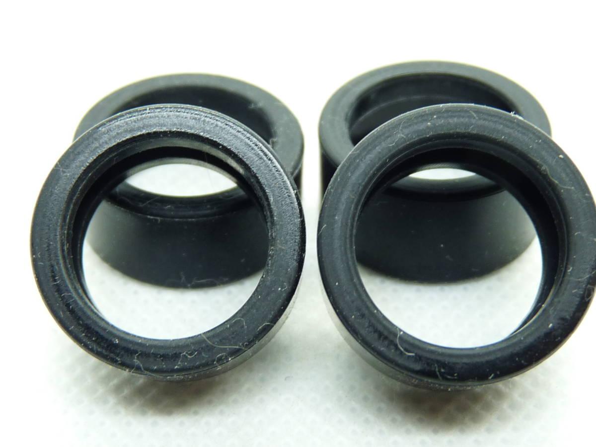 スロットカー 京商カレラ132用ハンドメイドシリコンゴムタイヤ 色:ブラック ソフトタイヤ ゴム硬度40 離型剤無(ハイグリップ)(1)