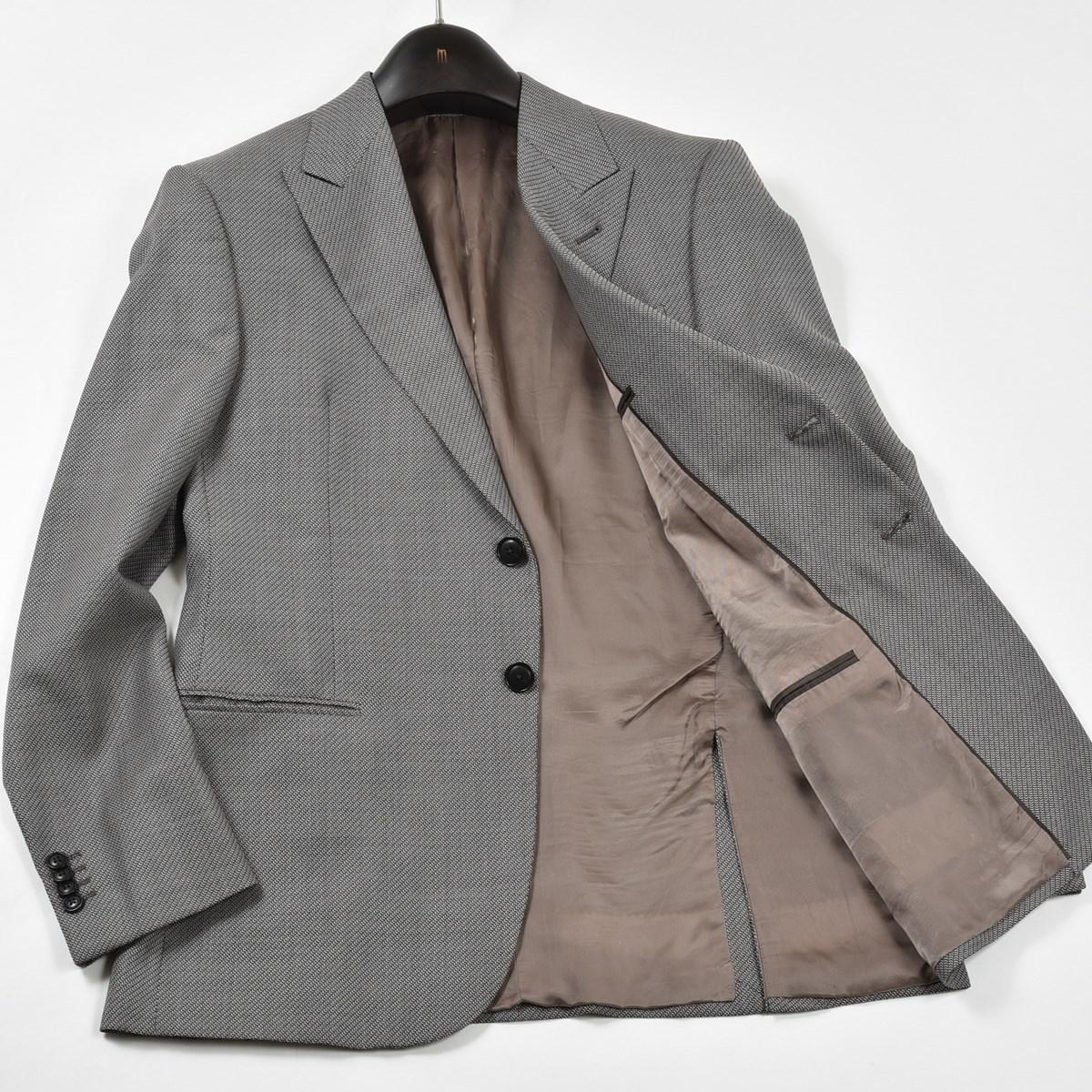 |GIORGIO ARMANI / アルマーニ|上品な装いに☆ シルク混 テーラードジャケット グレンチェック グレー 50サイズ イタリア製 B33
