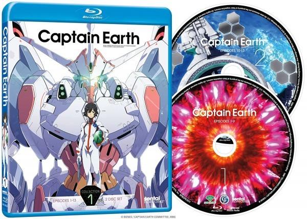 【送料込】キャプテン・アース 1 全13話 (北米版 ブルーレイ) Captain Earth 1 blu-ray BD
