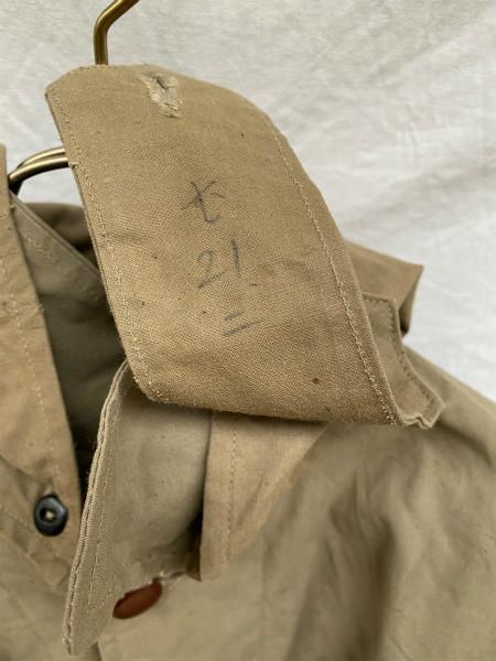 昭和初期 戦中 旧日本軍 フード付 フラップポケット Aライン コート 外套 JAPAN VINTAGE ジャパンヴィンテージ 昭和十九年製 小號 大支検定_画像6