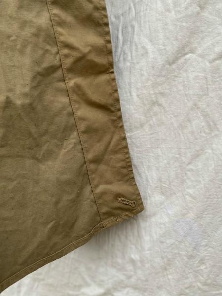 昭和初期 戦中 旧日本軍 フード付 フラップポケット Aライン コート 外套 JAPAN VINTAGE ジャパンヴィンテージ 昭和十九年製 小號 大支検定_画像9