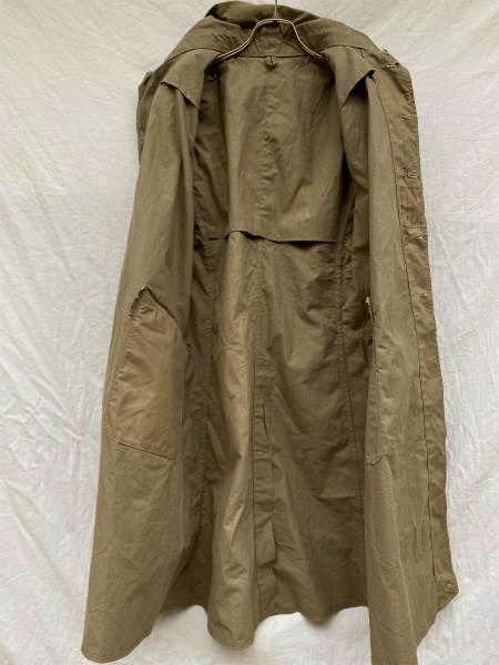 昭和初期 戦中 旧日本軍 フード付 フラップポケット Aライン コート 外套 JAPAN VINTAGE ジャパンヴィンテージ 昭和十九年製 小號 大支検定_画像8