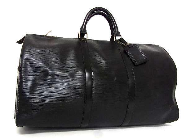 1円 ■美品■ LOUIS VUITTON ルイヴィトン M42962 エピ キーポル50 ボストンバッグ 旅行かばん ハンドバッグ ノワール ブラック系 I6520VL