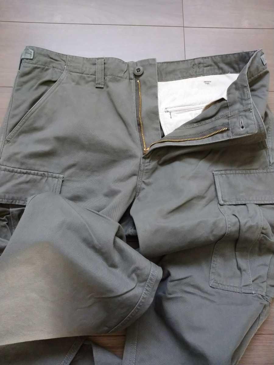 【ほぼ新品】 米軍 BDU カーゴパンツ スリムフィット オリーブ Lサイズ ARMY メンズ 軍パン ズボン ミリタリー ボトムス アメリカ軍 パンツ_画像3