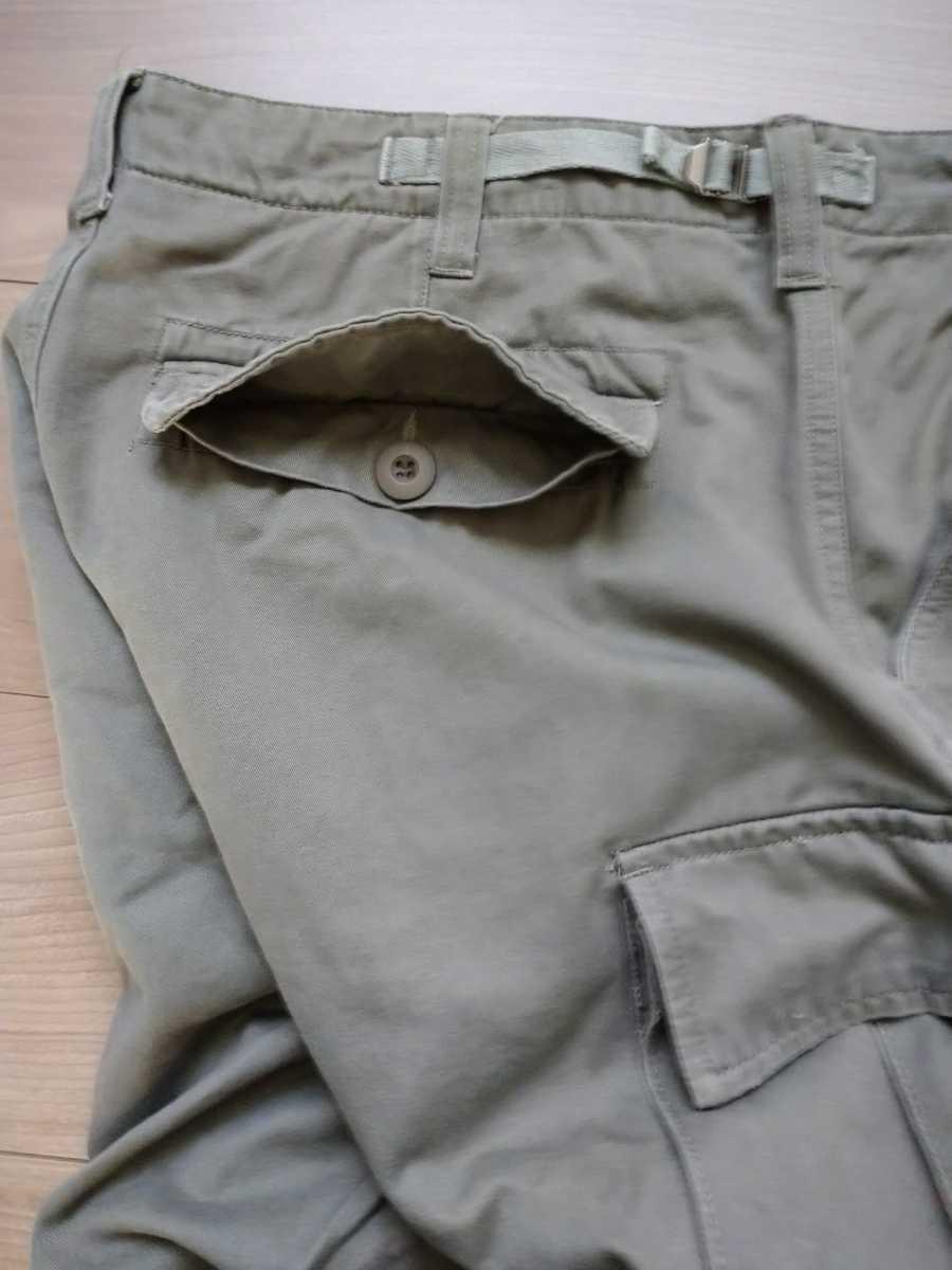 【ほぼ新品】 米軍 BDU カーゴパンツ スリムフィット オリーブ Lサイズ ARMY メンズ 軍パン ズボン ミリタリー ボトムス アメリカ軍 パンツ_画像6