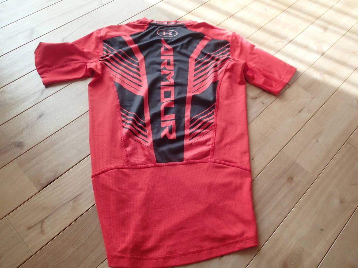 アンダーアーマー アンダーシャツ SMサイズ メッシュ 赤 半そで 送料無料