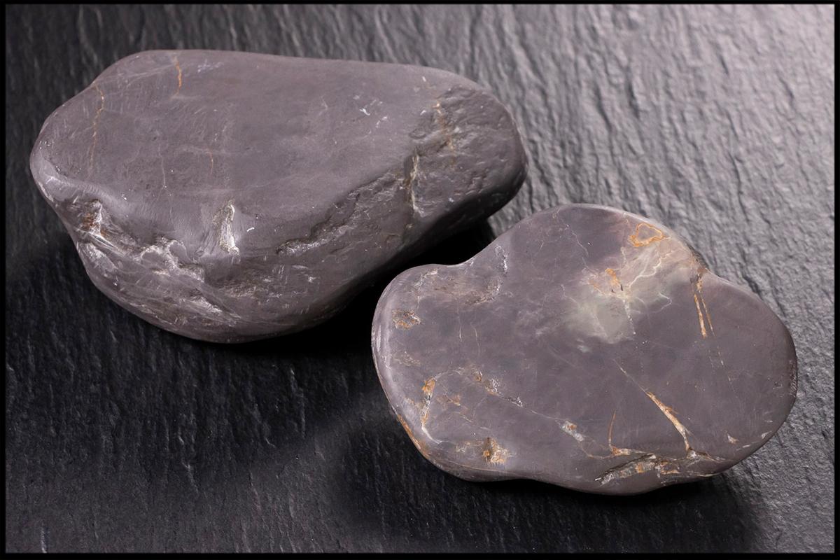 ◆天香楼◆1980年代 端渓老坑仔石2個 唐物AB9373_画像1