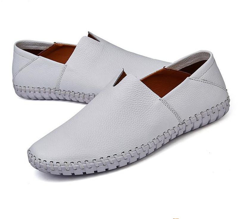 §新品§メンズ スリッポン メンズ ローファー ドライビングシューズ 紳士靴 カジュアル 滑り止め 柔らかい 軽量通学 白 26.0cm_画像2
