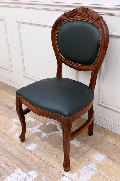 BC07 イタリア製 ロココ調 クラシック ダイニングチェア デスクチェア 食卓椅子 猫脚 応接椅子 机椅子_画像1