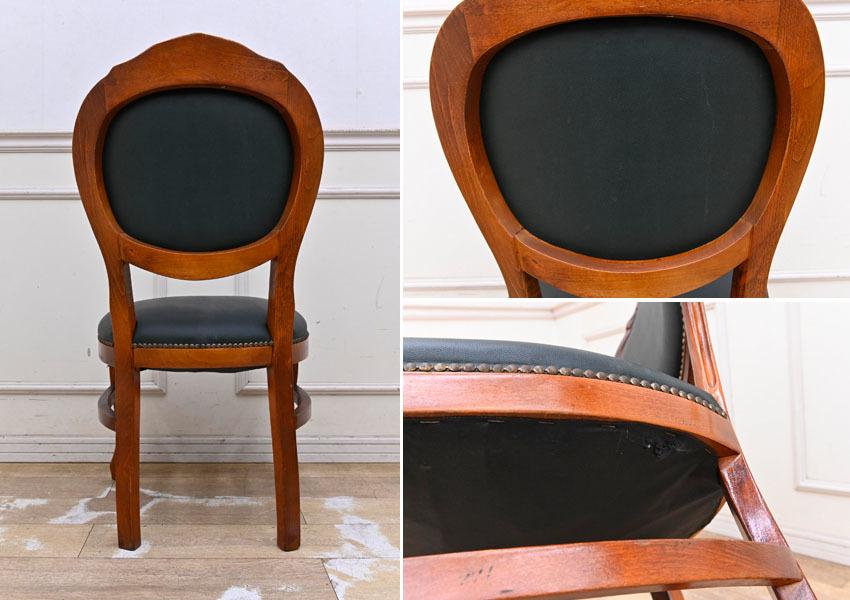BC07 イタリア製 ロココ調 クラシック ダイニングチェア デスクチェア 食卓椅子 猫脚 応接椅子 机椅子_画像6