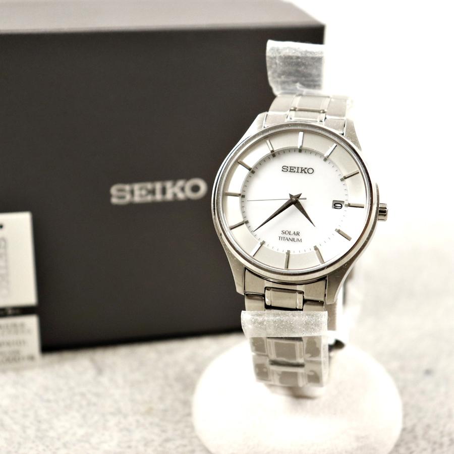 定価¥33,000- 極美品 箱付 SEIKO セイコーセレクション SBPX101 V157 ソーラー メンズ ウォッチ 腕時計 サファイアガラス 純チタン 10気圧