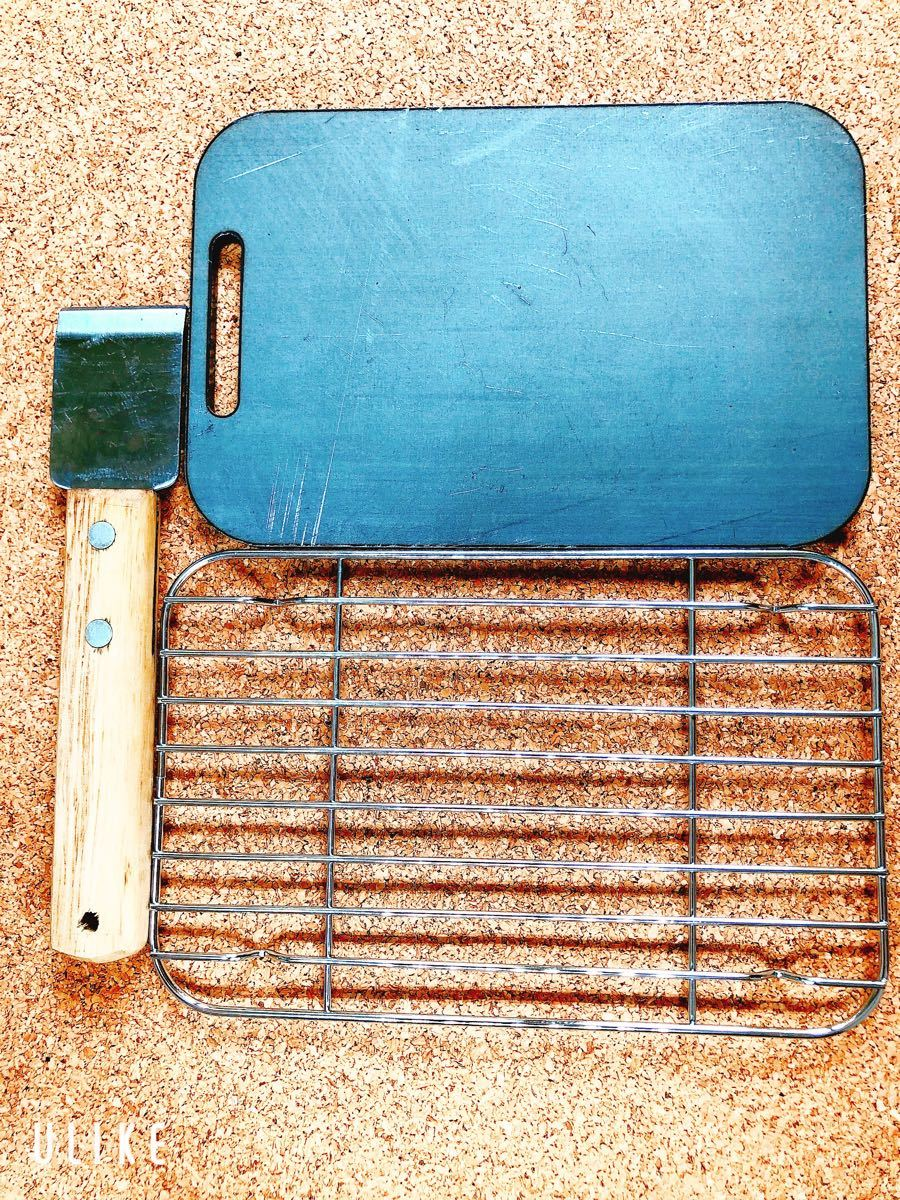 メスティン ラージ 鉄板 トランギア ミリキャンプ ニトリ 黒皮鉄板 スクレイパー 6ミリ