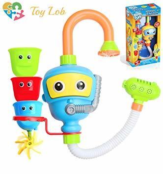ブルー (Toy Lob) お風呂 おもちゃ 水遊び シャワー バストイ ウォーター 噴水 お風呂玩具 子供 幼児 赤ちゃん _画像1